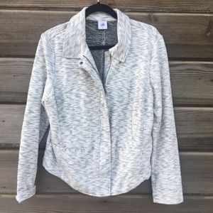 CAbi - Gray Zip-Up Stretchy Jacket